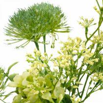 Zijden bloemen, kunstboeket, bloemdecoratie met distels 40cm