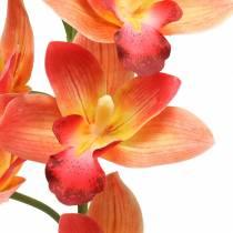 Orchidee kunstbloem Cymbidium oranje 74cm