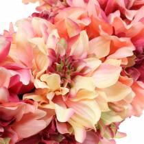 Dahlia bloemenkrans roze, creme Ø42cm