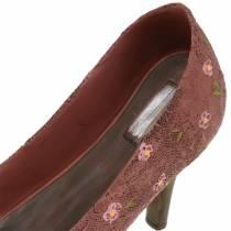 Decoratieve schoenplanten schoenpomp bruin 24cm × 8cm H13.6cm