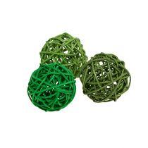 Decoratieve ballen groen mix Ø5cm 36p