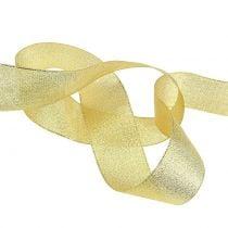 Decoratief lint goud verschillende breedtes 22,5m