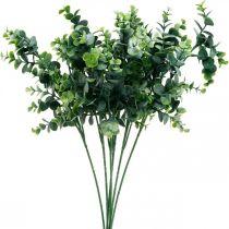 Decoratieve eucalyptustak donkergroen Kunstmatige eucalyptus Groene kunstplanten