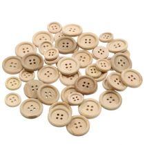 Decoratieve knopen naturel 1,5cm - 2,5cm 150p