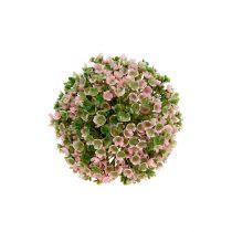 Decoratieve bal roze-groen Ø12cm 1st