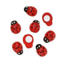 Decoratief lieveheersbeestje om 1cm rood te plakken 360p