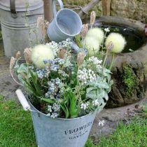 Decoratieve bloempot, emmer met kruik, kruik, metalen emmer H38cm Ø16,5cm / Ø7cm