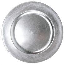 Decoratief bord zilver Ø28cm