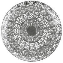 Decoratief bord zilver met motief Ø35cm