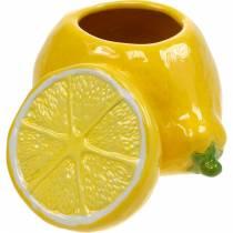 Decoratieve pot citroenvaas citrusvruchten keramiek zomerdecoratie