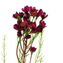 Decoratieve tak met bloemen Erika 80cm 3st