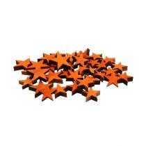 Houten sterrenmix oranje voor verspreiding 3-5cm 72st