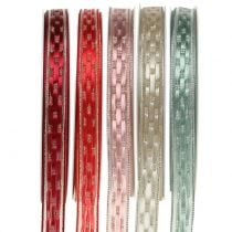 Decoratieve tape met draadrand 15 mm 25 m