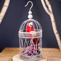 Decoratieve papegaai rood 44cm