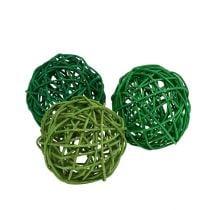 Sorteer ballen Groen 7cm 18p