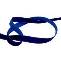 Decoratieve linten Velvet blue 10mm 20m