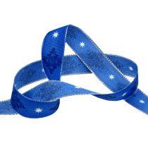 Decoratief tape blauw met patroon 25mm 20m