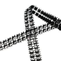Decoratietape zwart, zilver 10 mm 4 m