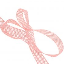 Decoratief lint kant 21mm 20m roze
