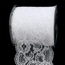 Decoratief lint kant 100mm 10m wit