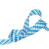 Decoratietape wit-blauw 25mm 20m