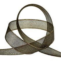 Decoratieve tape met lurexstrepen zwart 25 mm 20 m