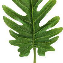 Decoratief blad Philodendron Groen B11cm L34cm 6st