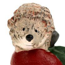 Decoratief figuur egel op appel 7,5 cm keramiek