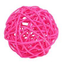 Decoratieve ballen roze Ø7cm 18st