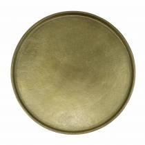 Decoratief bord klei Ø20cm goud