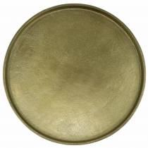 Decoratief bord klei Ø30cm goud