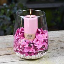 Decoratieve vaas, bloemenvaas, glazen vaas Ø19cm H23cm