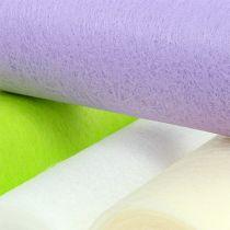 Decoratieve fleece tafelloper 23cm gekleurd 25m