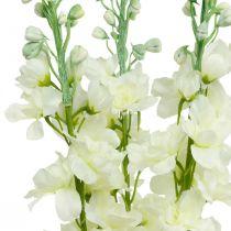 Delphinium witte kunstmatige delphinium zijden bloemen kunstbloemen 3st