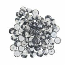 Decoratieve stenen diamant acryl grijs Ø1,2cm 175g