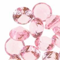 Decoratieve stenen diamant acryl lichtroze Ø1.8cm 150g scatter decoratie voor de tafel