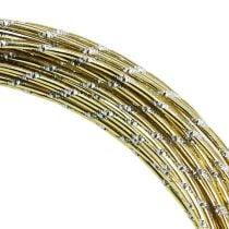 Diamant aluminium draad goud 2 mm 10 m