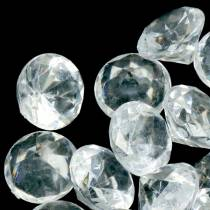 Decoratieve stenen diamant helder Ø2,8cm 150g tafeldecoratie