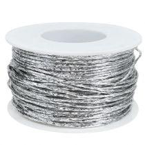 Draad gewikkeld in zilver Ø2mm 100m