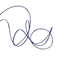 Draad gewikkeld in 50m donkerblauw