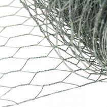 Zeshoekige gevlochten draad, zilver gegalvaniseerd, konijn draad 50cm × 10m
