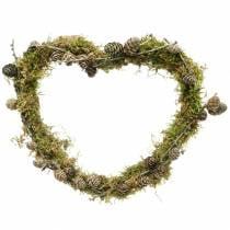 Draad hart 30cm golfring voor muurkrans kransring hart 10st