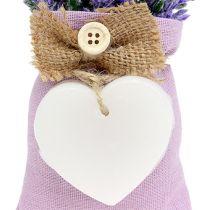 Lavendel zakje 18cm met wax hart