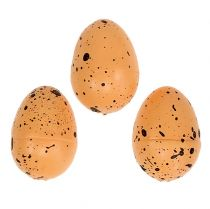 Ei gemaakt van piepschuim oranje 3,5 cm 24 stks
