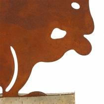 Eekhoorn roest op de houten voet 19cm x 25cm