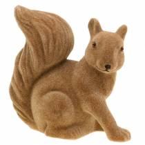 Decoratieve eekhoorn stroomden bruin H20cm 2st