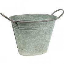Plantenbak, metalen bak met handvatten, decoratieve schaal L32cm H24cm