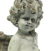 Decoratieve engel Cupido met hart 25cm 2st