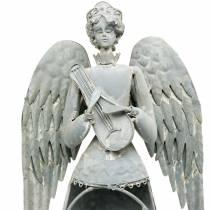 Decoratieve engel metaal 72cm