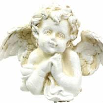 Ernstige decoratie decoratieve plug engel bidden 5 cm 4 stks